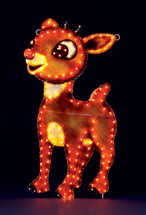 Holiday Yard Art 48in. high Rudolf 150 Lights!